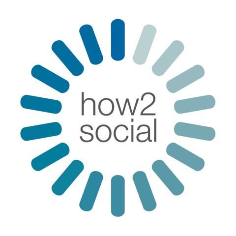 How2Social logo - blue