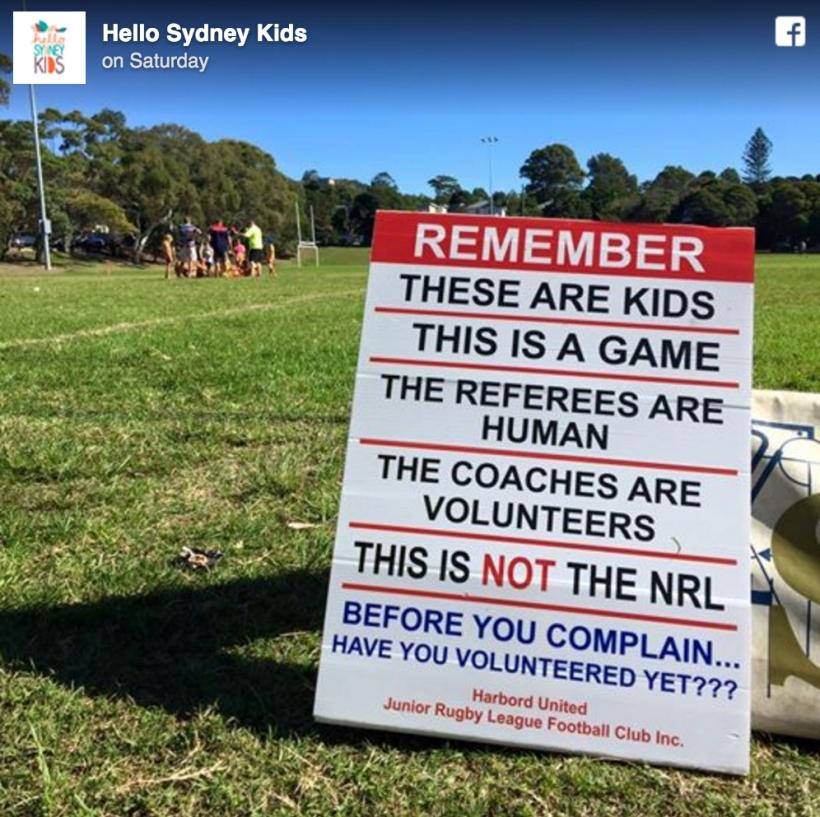 Managing parents at KidsSport